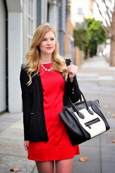 red shift dress valentines day