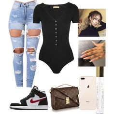 featuring Michael Kors and NIKE Swag Outfits For Girls, Boujee Outfits, Cute Swag Outfits, Teenage Girl Outfits, Cute Comfy Outfits, Teen Fashion Outfits, Fashion Mode, Teenager Outfits, Dope Outfits