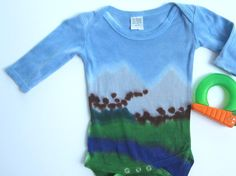 6 Month Snapsuit, Long Sleeves, Mountain Scene - http://www.babies-clothes.info/6-month-snapsuit-long-sleeves-mountain-scene.html