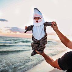 Shark costume so cute