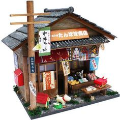 The detail on these Japanese dollhouses is amazing!