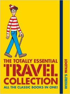 """""""Where's Waldo? The Totally Essential Travel Collection"""" -Martin Handford ($14.99 on Amazon). Contains all seven primary Wally books (special editions) in one travel-sized book: 1987 """"Where's Wally?"""", 1988 """"Where's Wally Now?"""", 1989 """"The Fantastic Journey"""", 1993 """"In Hollywood"""", 1997 """"The Wonder Book"""", 2006 """"The Great Picture Hunt"""", and 2009 """"The Incredible Paper Chase"""""""