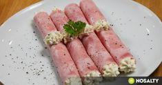 Sajtkrémes-uborkás sonkatekercsek recept képpel. Hozzávalók és az elkészítés részletes leírása. A sajtkrémes-uborkás sonkatekercsek elkészítési ideje: 30 perc Tuna, Asparagus, Chips, Fish, Meat, Vegetables, Adhd, Studs, Potato Chip