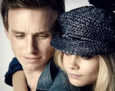 Addicted to Eddie: MCM - in denim with Cara Delevingne - Burberry SS12