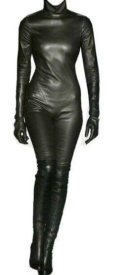Custom Made Fit Napa Soft Leather Catsuit New #SUNSHINELEATHERFASHION #CATSUIT