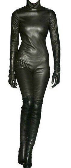 Custom Made Fit Napa Soft Leather Catsuit New #SUNSHINELEATHERFASHION #CATSUIT