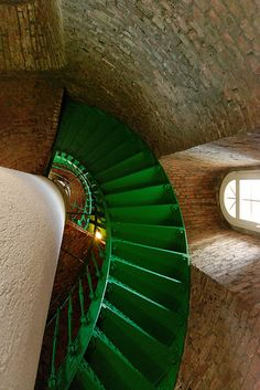 Lighthouse at Darßer Ort - Darß, Germany Love the stairs