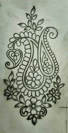What Everybody Is Saying About Embroidery Designs by Hand Easy Simple Is Wrong and Why - Simple Hand Embroidery Designs, Border Embroidery Designs, Hand Embroidery Stitches, Beaded Embroidery, Machine Embroidery, Kashida Embroidery, Modern Embroidery, Motif Floral, Sketch Design