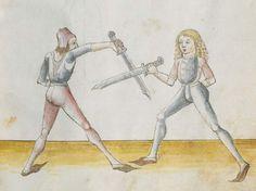 Lecküchner, Hans: Kunst des Messerfechtens Nordbayern, 1482 Cgm 582 Folio 29