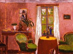 Rippl-Rónai, József - Room with Green Armchair