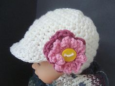 CROCHET PATTERN num 418, DANIKA Newsboy Hat, all sizes newborn to adult, permission to sell your hats. $4.99, via Etsy.