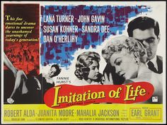 """Imitation of Life — with Sandra Dee, Lana Turner and John Gavin.………For more classic pictures of the 60's, 70's and 80's please visit and """"LIKE"""" my Facebook page at https://www.facebook.com/pages/Roberts-World/143408802354196"""