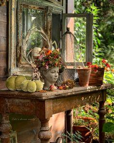 Days In September, Oct 1, Country Charm, Country Life, Love Garden, My Secret Garden, Girl Falling, Interior Exterior, Garden Styles