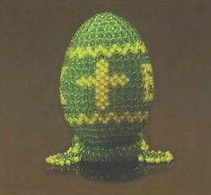 Beaded Easter egg with Cross  PATTERN