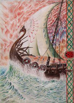 Sailing to Valhalla by kirkpatrickpsalm.deviantart.com on @deviantART