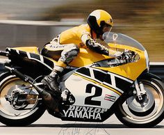 KENNY ROBERTS Photo Autographed TZ750 Motorcycle 3 Time World Champion GP Race
