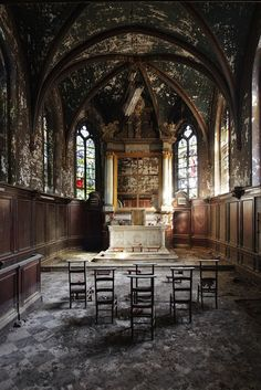 Stunning Depictions of Abandoned Ruins Around the World (10 Pics) - Part 1, Abandoned Chapel Rose.