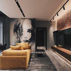 Modern Loft designed by Leonid Sizikov Loft Interior Design, Loft Design, Interior Decorating, House Design, Decorating Tips, Interior Design Yellow, Decorating Websites, Apartment Interior, Home Interior