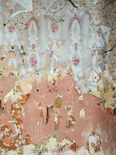 Once they started ripping, they were fascinated to discover layer after layer of old wallpaper - each a little more amazing than the last.