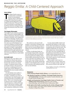 SchoolArts Magazine - Reggio Emilia