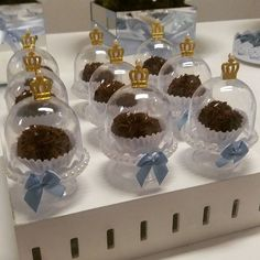 Mini cúpulas coroa para meninos!