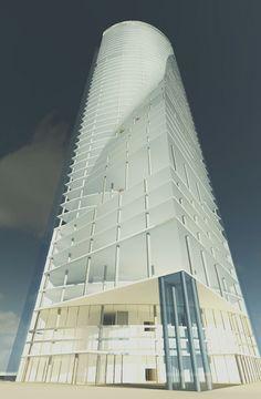 Torre Espacio skyscraper. Revit.
