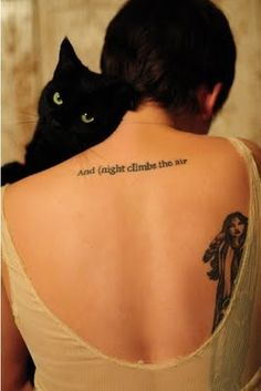 The most beautiful tattoo I've seen to date. An e.e. cummings quote + a Cherokee woman.