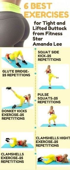 6 best exercises for tight and lifted buttock