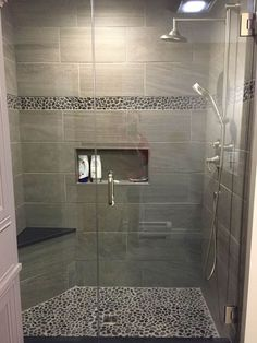 8 Convenient Cool Tips: Shower Remodeling On A Budget Bathtubs small shower remodel.Small Shower Remodel Glass Doors old shower remodel.Stand Up Shower Remodeling On A Budget. Master Bathroom Shower, Diy Shower, Bathroom Shower Remodel, Simple Bathroom, Tile For Small Bathroom, Small Shower Remodel, Rental Bathroom, Restroom Remodel, Small Tiles