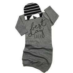 Newborn Gray Gown