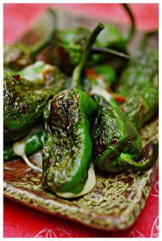 Cheese Stuffed Padron Peppers