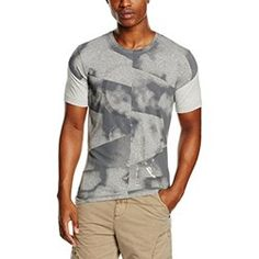CALVIN KLEIN JEANS Tinser cn Tee s/S, Maglietta Uomo, Light Grey Heather 38, XS amazon beige