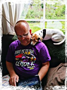 pets, dog, one animal, animal themes, mammal, domestic animals, indoors, one person, real people, home interior, completely bald, day, eyeglasses, people