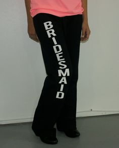 Bridesmaids sweatpants for wedding party outfit. Sizes S-2XL. Maid of honor Bridesmaid Bride pants. Bridesmaids yoga pants. wedding pants on Etsy, $22.00
