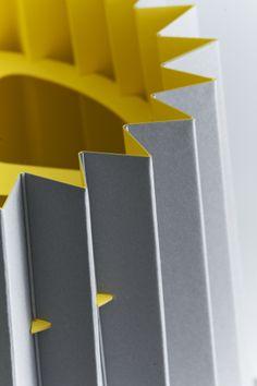 Lane Twin Tone Lampshade - Smoke Grey and Factory Yellow  £65 from www.lanebypost.com #lanebypost #madeinengland