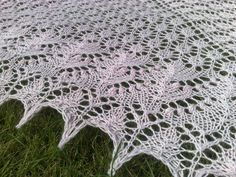 Swallowtail Lace Shawl by Evelyn Clark and Baby Alpaca Silk Drops