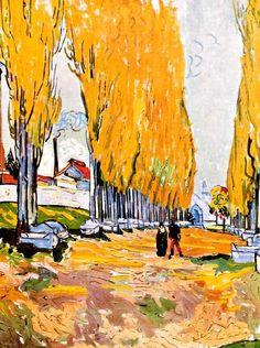 Les Alycamps, L'Automne, Otterlo, Vincent van Gogh, Novembre 1888   ARLES JARDINS