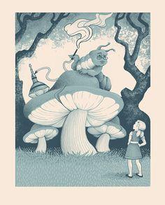 Alice and the Caterpillar illustrator Jillian Nickell