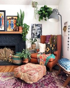 Brilliant großes Wohnzimmer Deko-Ideen Home Decor on a budget Home Decor apartment rustic Home D Boho Living Room, Home And Living, Living Spaces, Small Living, Modern Living, Vintage Living Rooms, Large Living Rooms, Plants In Living Room, Living Room Decor Eclectic