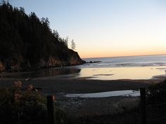 Oswald West Beach at sunset
