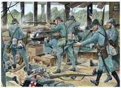 Dutch infantry at the Battle of the Grebbeberg, May 1940