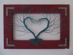 Copper Wire Heart Trees
