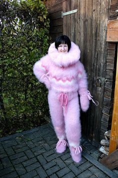 News in 2015 Gros Pull Mohair, Everything Pink, Sweater Fashion, Catsuit, Mittens, Onesies, Fur Coat, Costumes, Wool