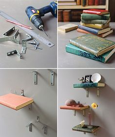 DIY: book shelves (literally)