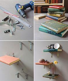 DIY: book shelves (literally)
