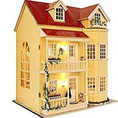 Top 5 Dollhouse Kits To Build - Look at all the pretty lights. One awesome dollhouse to build for your little girls.