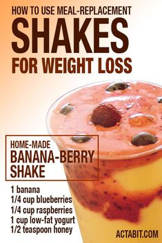 Healthy Smoothies - Swapping your breakfast or lunch for a meal replacement shake can help you lose weight. Here's what you need to know about how to use meal replacement shakes for weight loss. Weight Loss Shakes, Weight Loss Drinks, Weight Loss Smoothies, Healthy Smoothies, Healthy Drinks, Healthy Snacks, Green Smoothies, Healthy Eating, Smoothie Diet