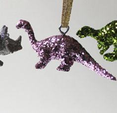 Land Before Time Ornament   Make this glittersaurus DIY ornament with your kids!
