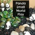 Panda Small World Play- What a wonderful way to explore after reading books on Asia.