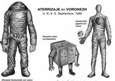 Voronezh, Russia UFO Landing in city park, september 27, 1989, Giant aliens where seen by people going to work and to school in the morning. The ailens where estimated to be three meters tall